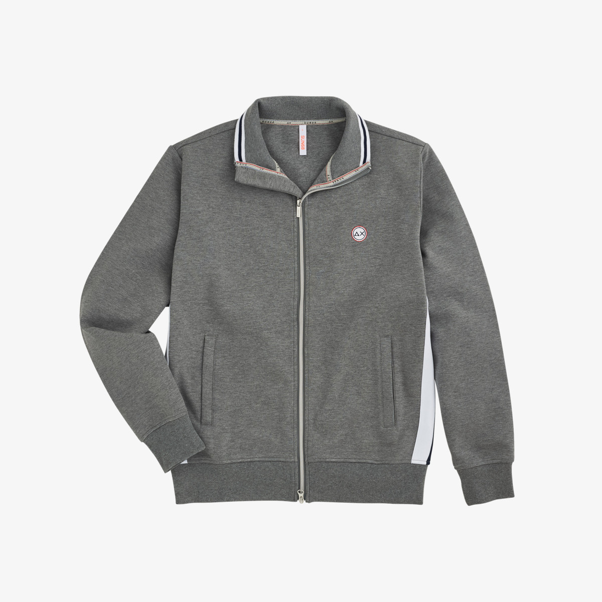 FULL ZIP HERITAGE COTTON FL GRIGIO MEDIO