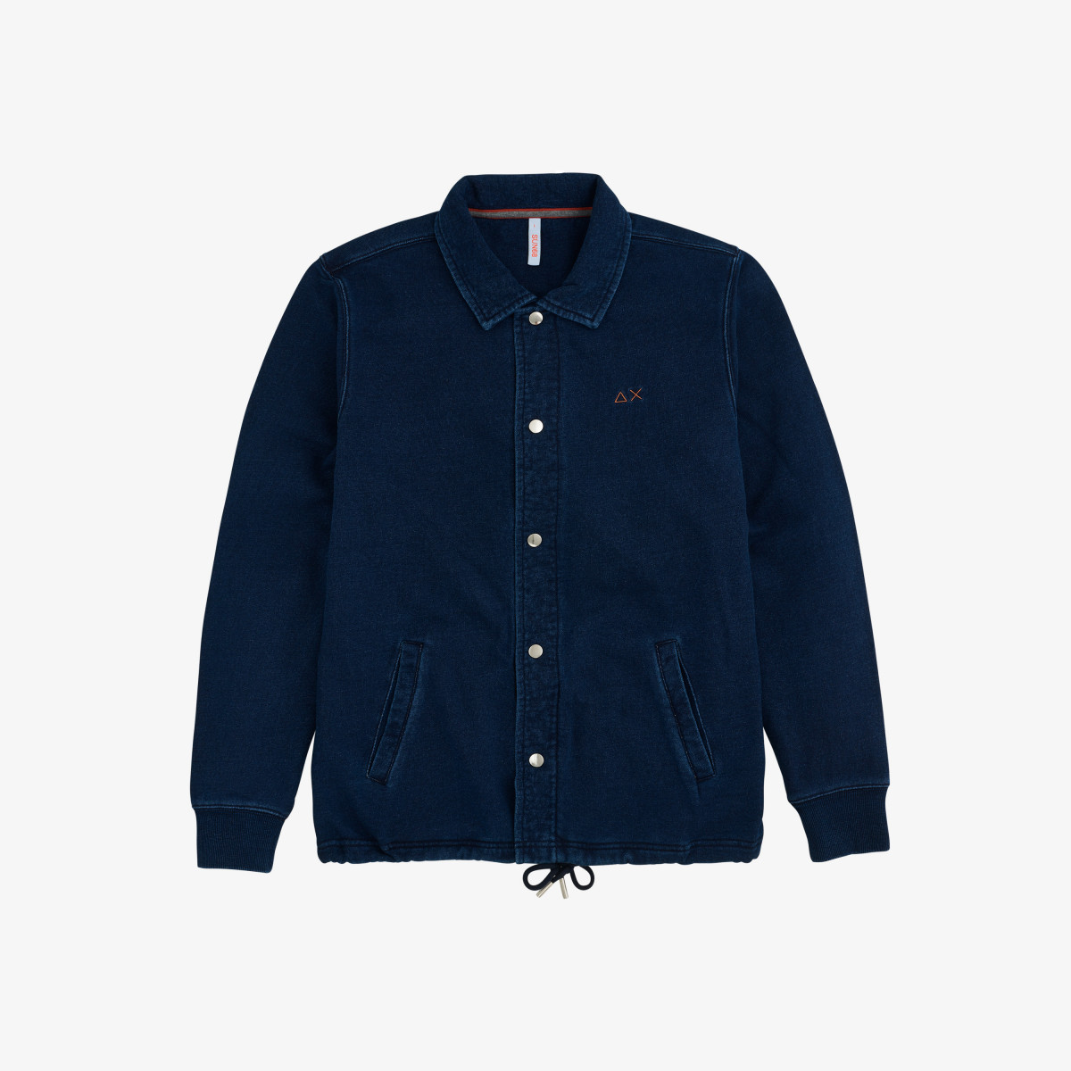 CARDIGAN INDIGO COTTON FL DARK NAVY