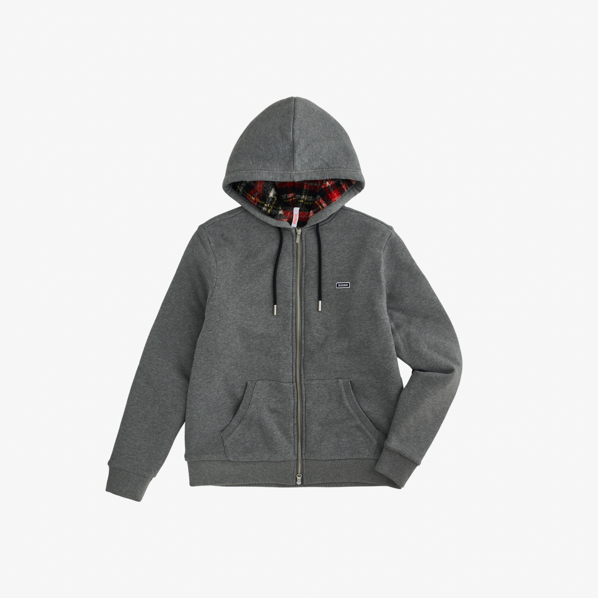 HOOD INSIDE BEAR COTTON FL GRIGIO MEDIO