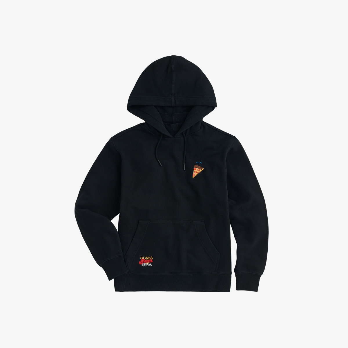 HOOD BASIC COTTON FL NERO