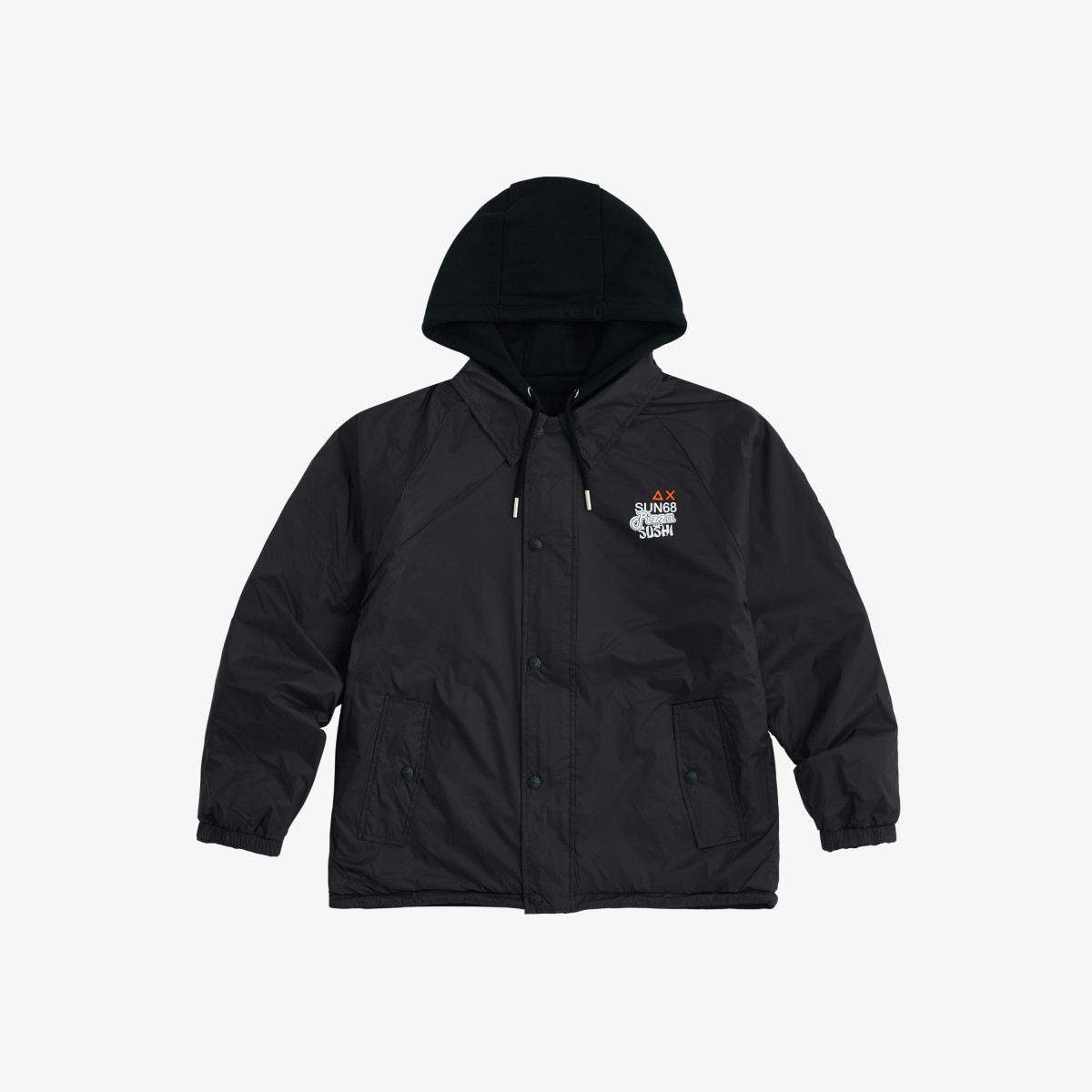 FULL ZIP NYLON JACKET NERO