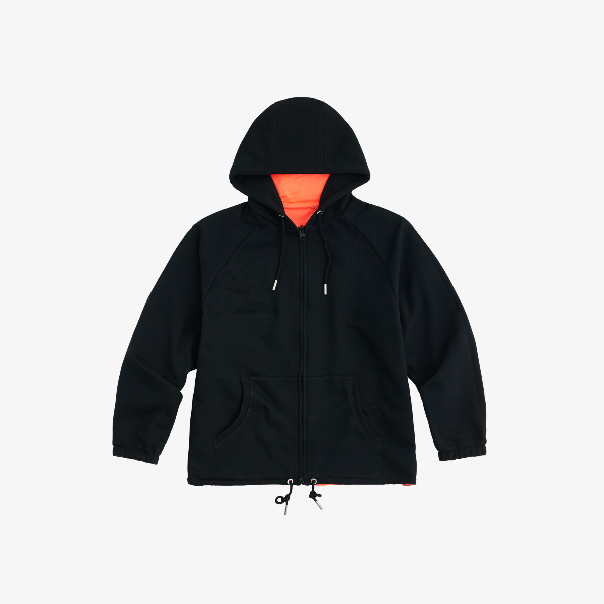 FULL ZIP NYLON JACKET ARANCIO FLUO