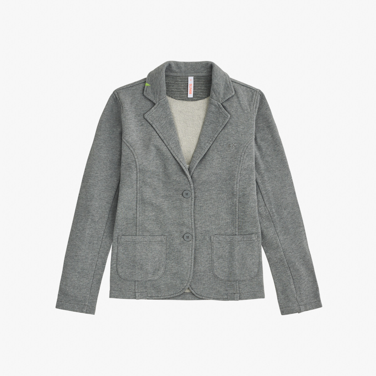 JACKET COTTON FL GRIGIO MEDIO
