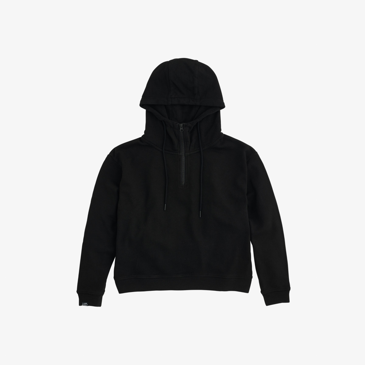 HOOD BACK PRINT COTTON FL NERO
