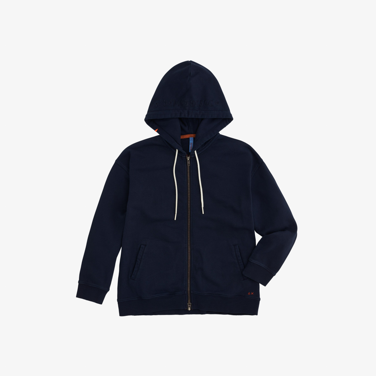 HOOD COLD DYE COTTON FL NAVY BLUE