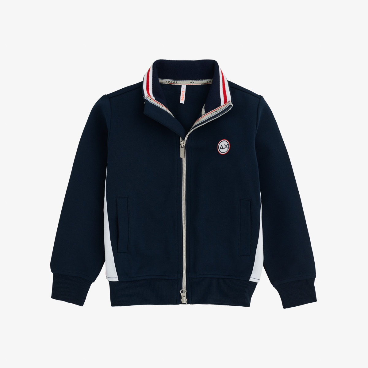 BOY'S FULL ZIP HERITAGE COTTON FL NAVY BLUE