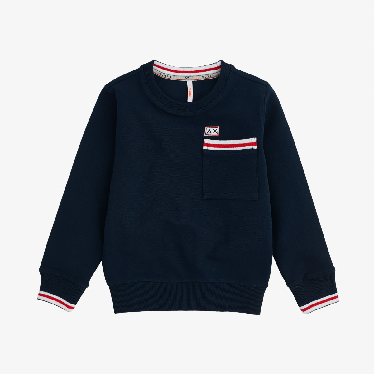 BOY'S ROUND HERITAGE COTTON FL NAVY BLUE