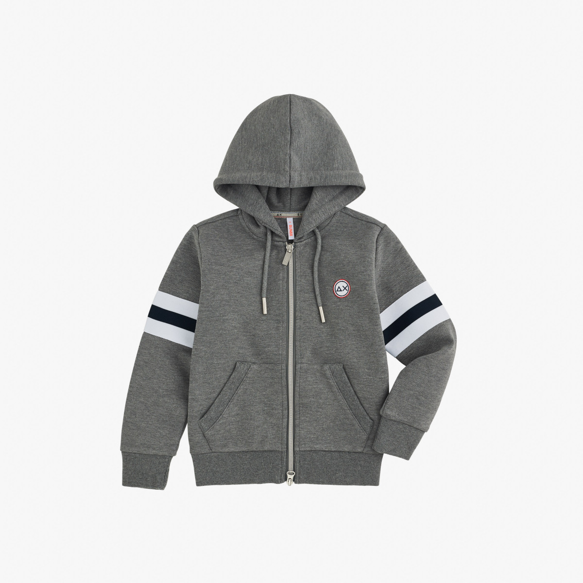 BOY'S HOOD HERITAGE COTT.FL MEDIUM GREY