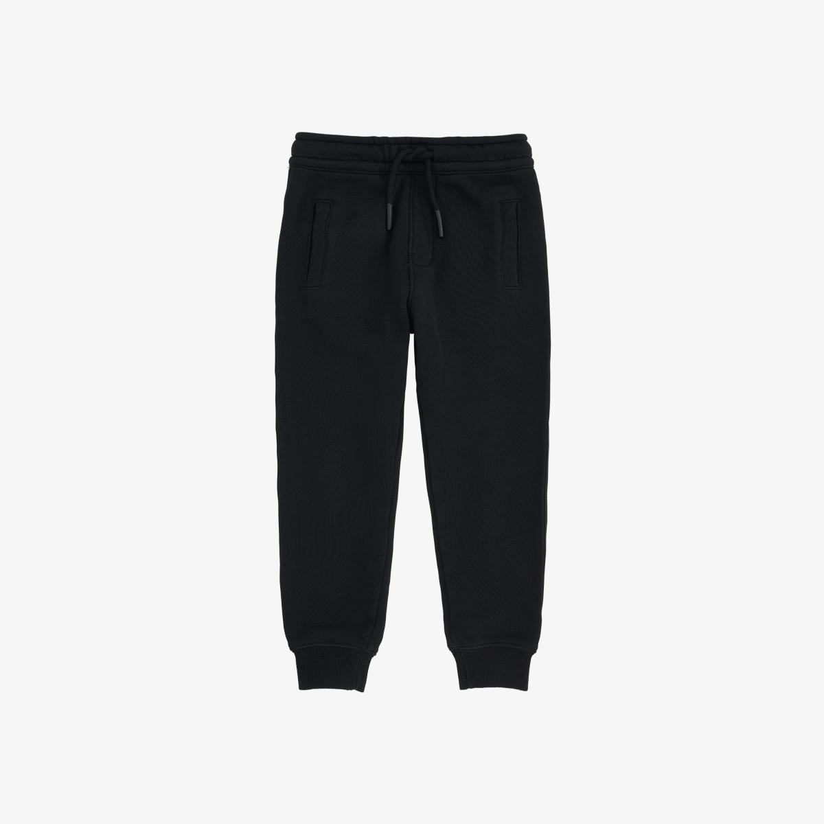 BOY'S PANT LONG BASIC COTT.FL BLACK