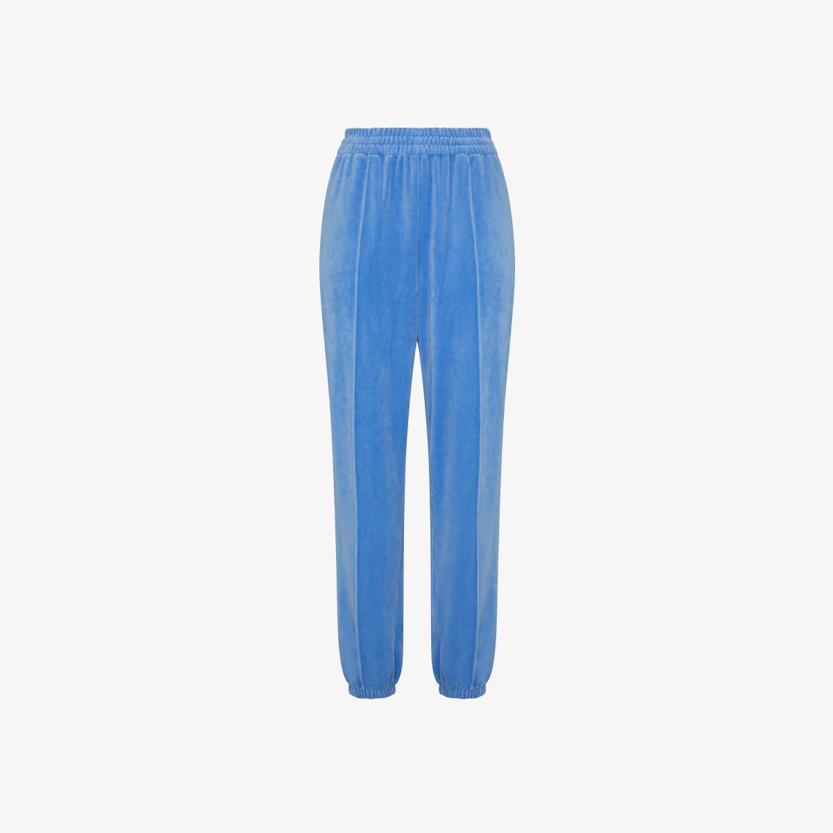 BAGGY PANT CHENILLE BLUE