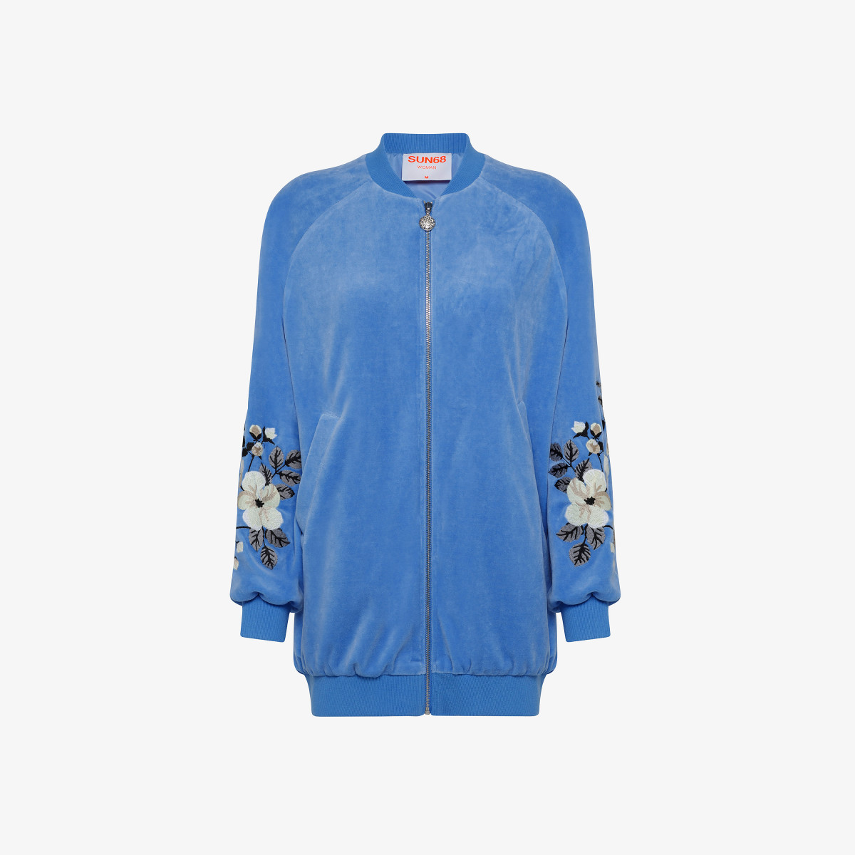 BOMBER EMBRODERY CHENILLE BLUE