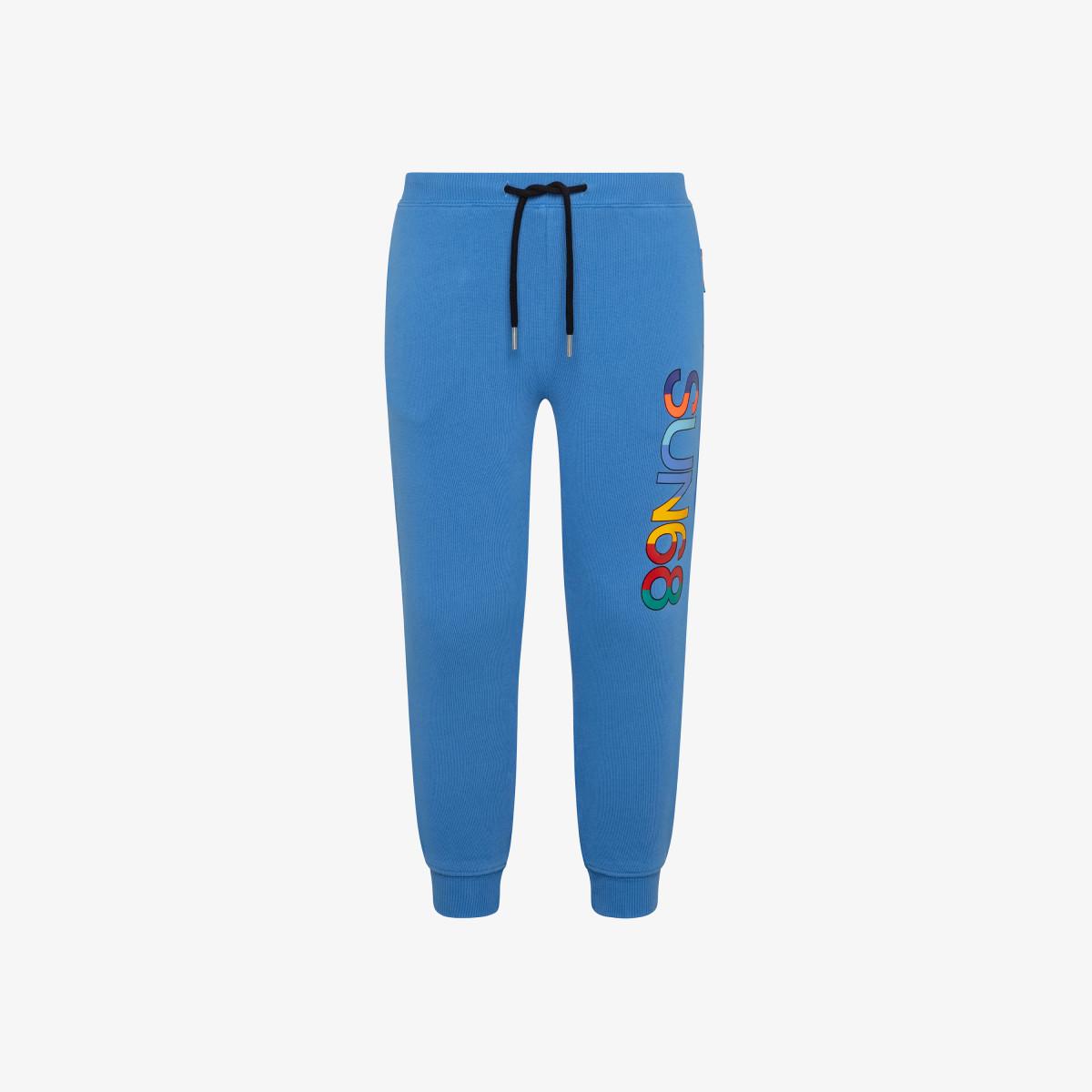 BOY'S PANT LONG COTTON FL LIGHT BLUE