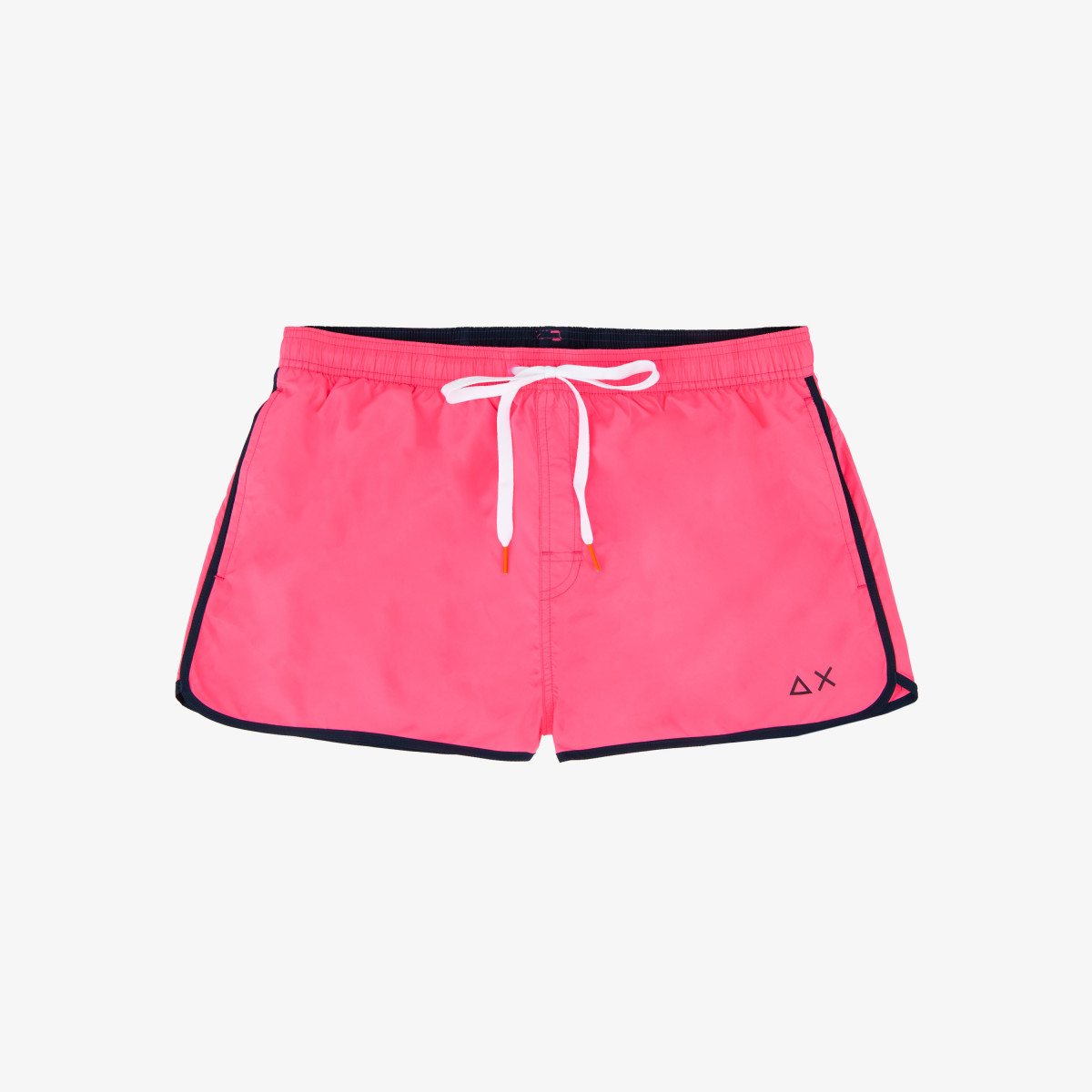 SWIM PANT SOLID BINDING SMALL LOGO FUXIA FLUO