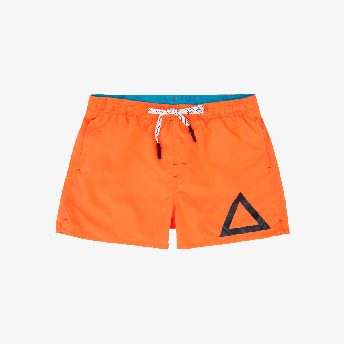 SWIM PANT SOLID BIG LOGO ORANGE FLUO