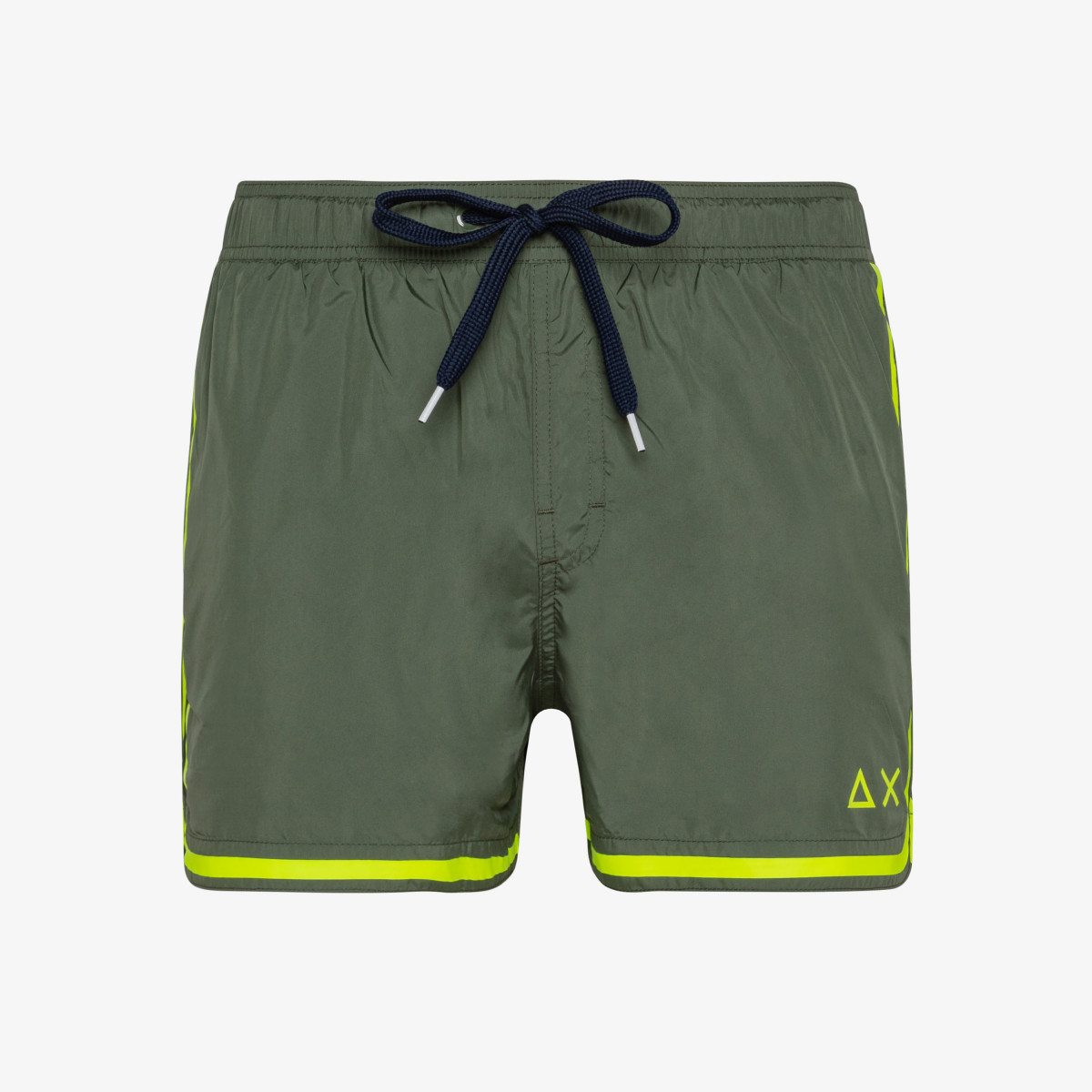 SWIM PANT SIDE BAND WHITE MILITARY