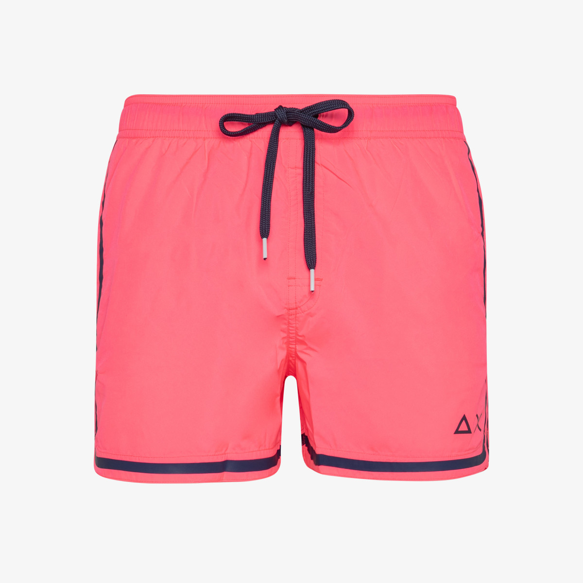 SWIM PANT SIDE BAND WHITE FUXIA FLUO