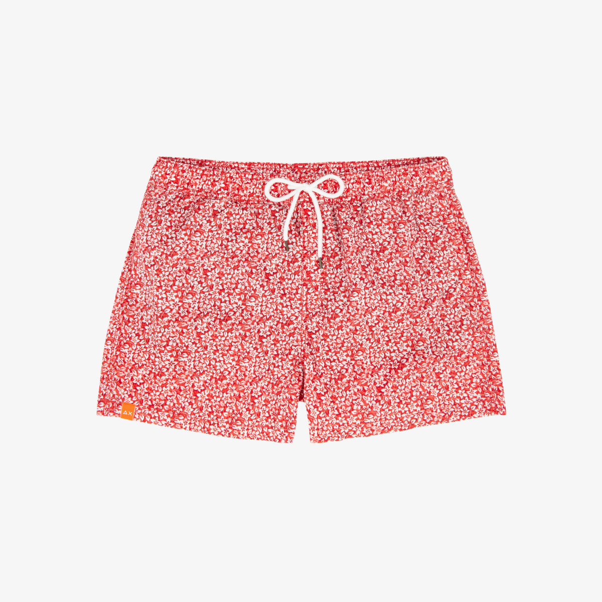 SWIM PANT MICRO PRINT RED/WHITE