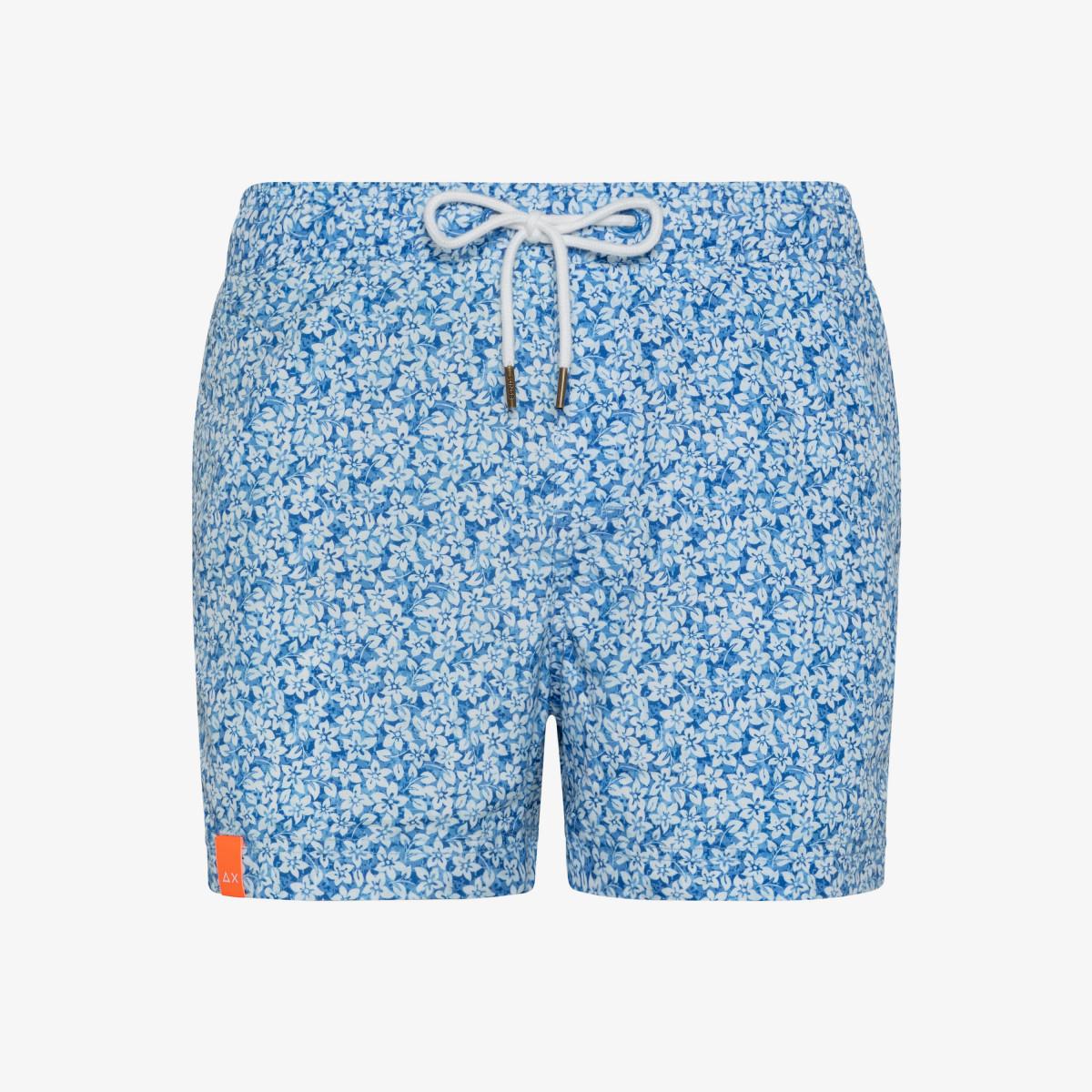 SWIM PANT MICRO PRINT BLUE/WHITE