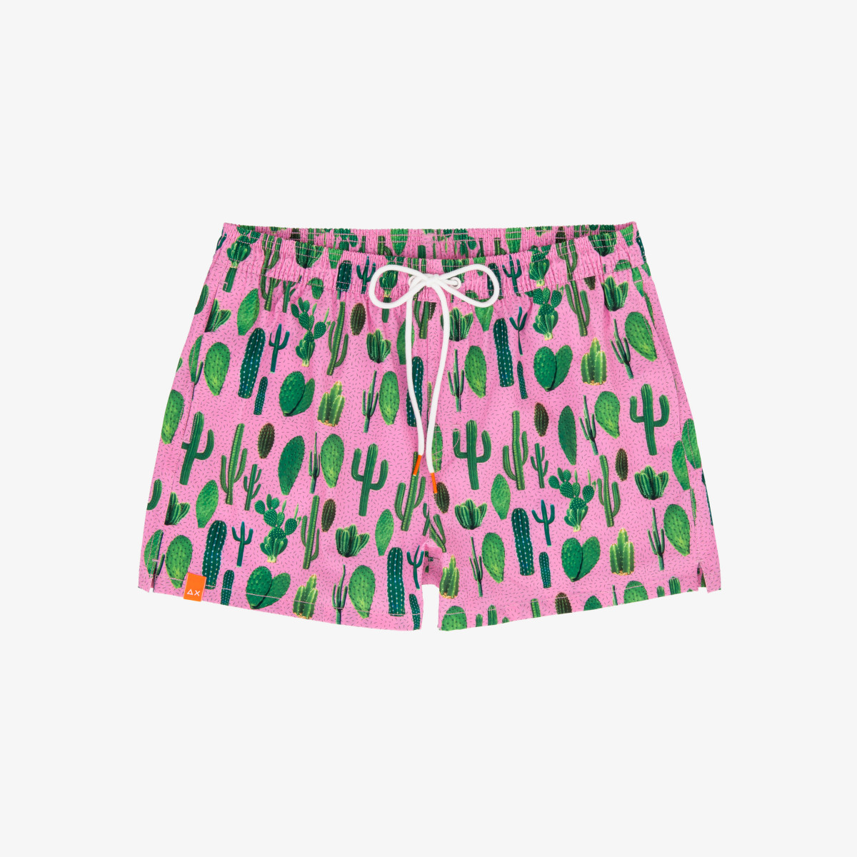 SWIM PANT BIG PRINT PINK/LIME