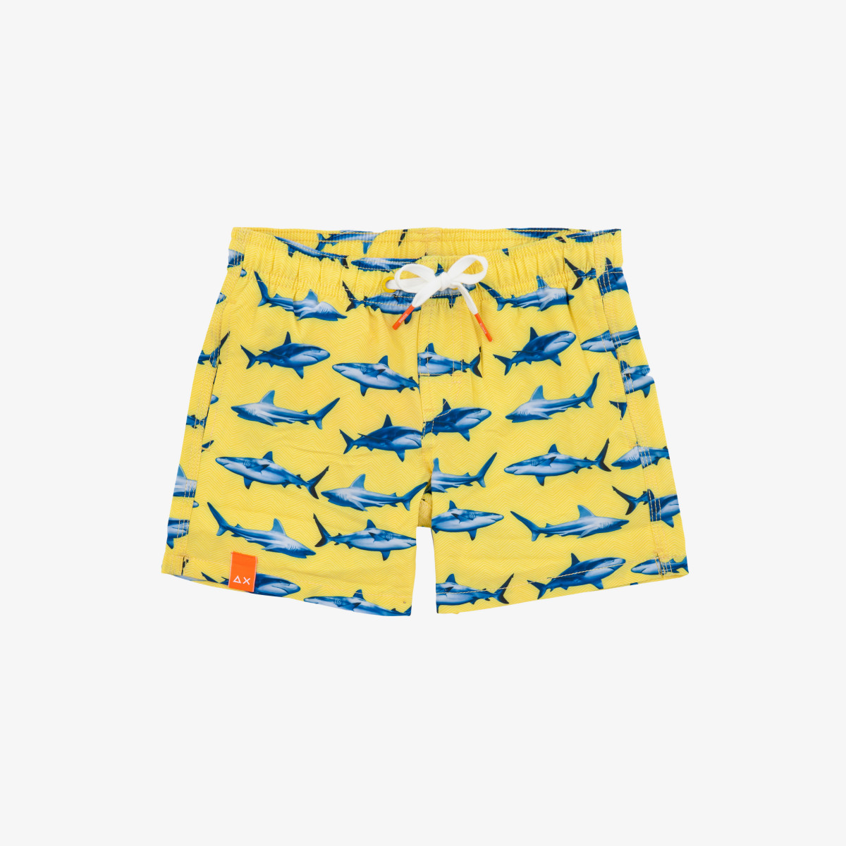 BOY'S SWIM PANT BIG PRINT GIALLO/BLUE