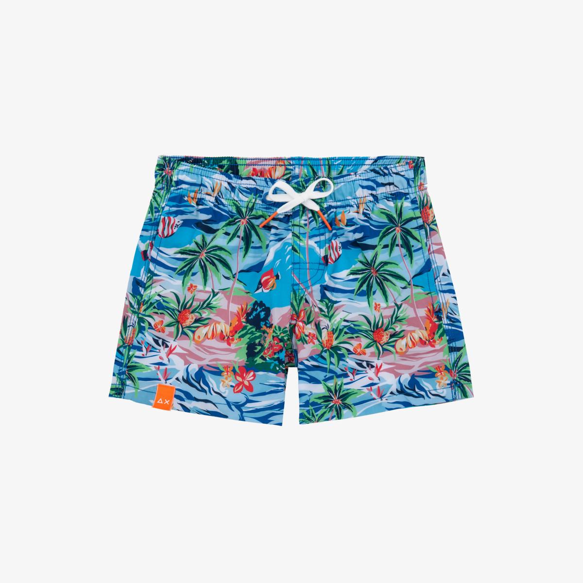 BOY'S SWIM PANT MICRO HAWAII BLUE