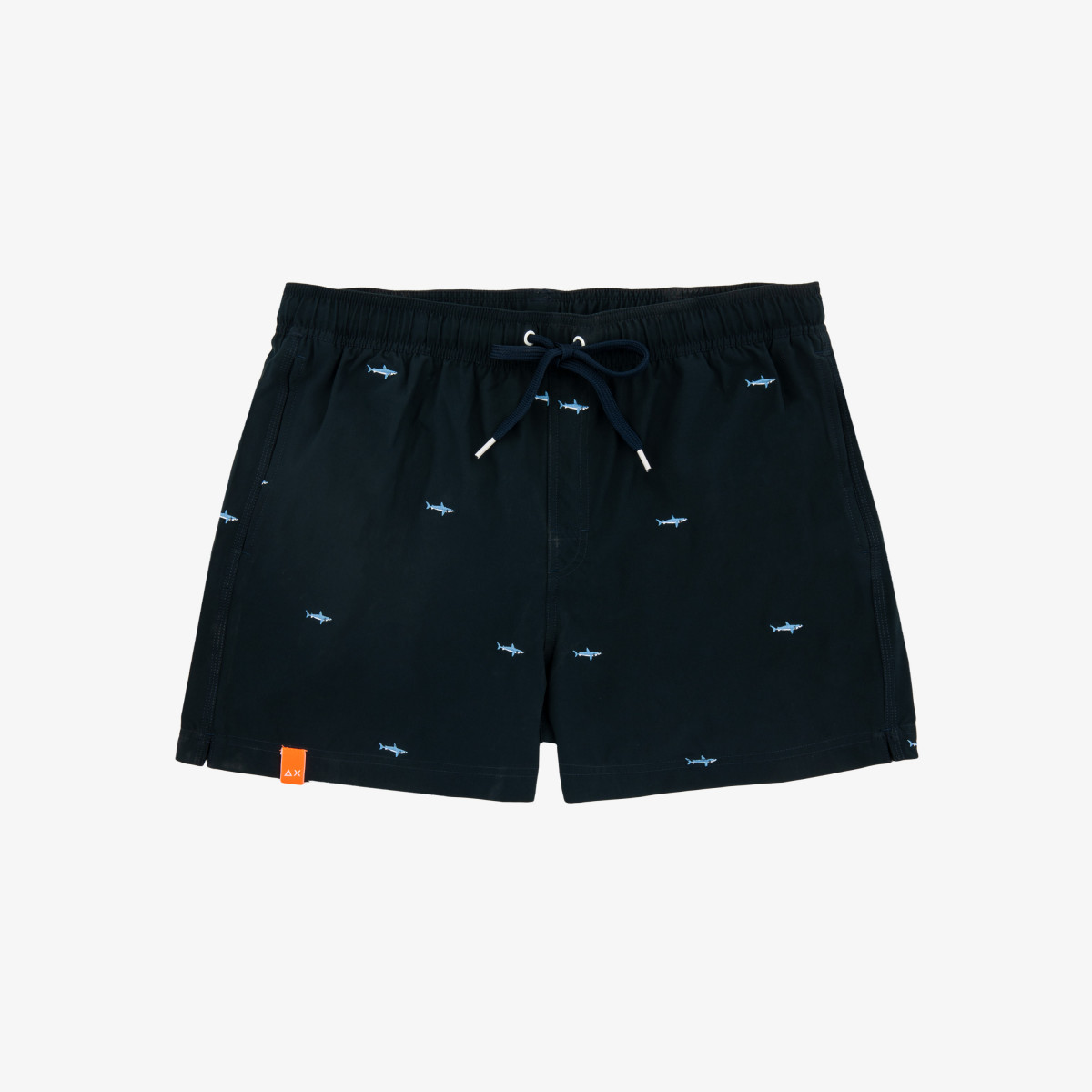 SWIM PANT EMBRODERY NAVY BLUE
