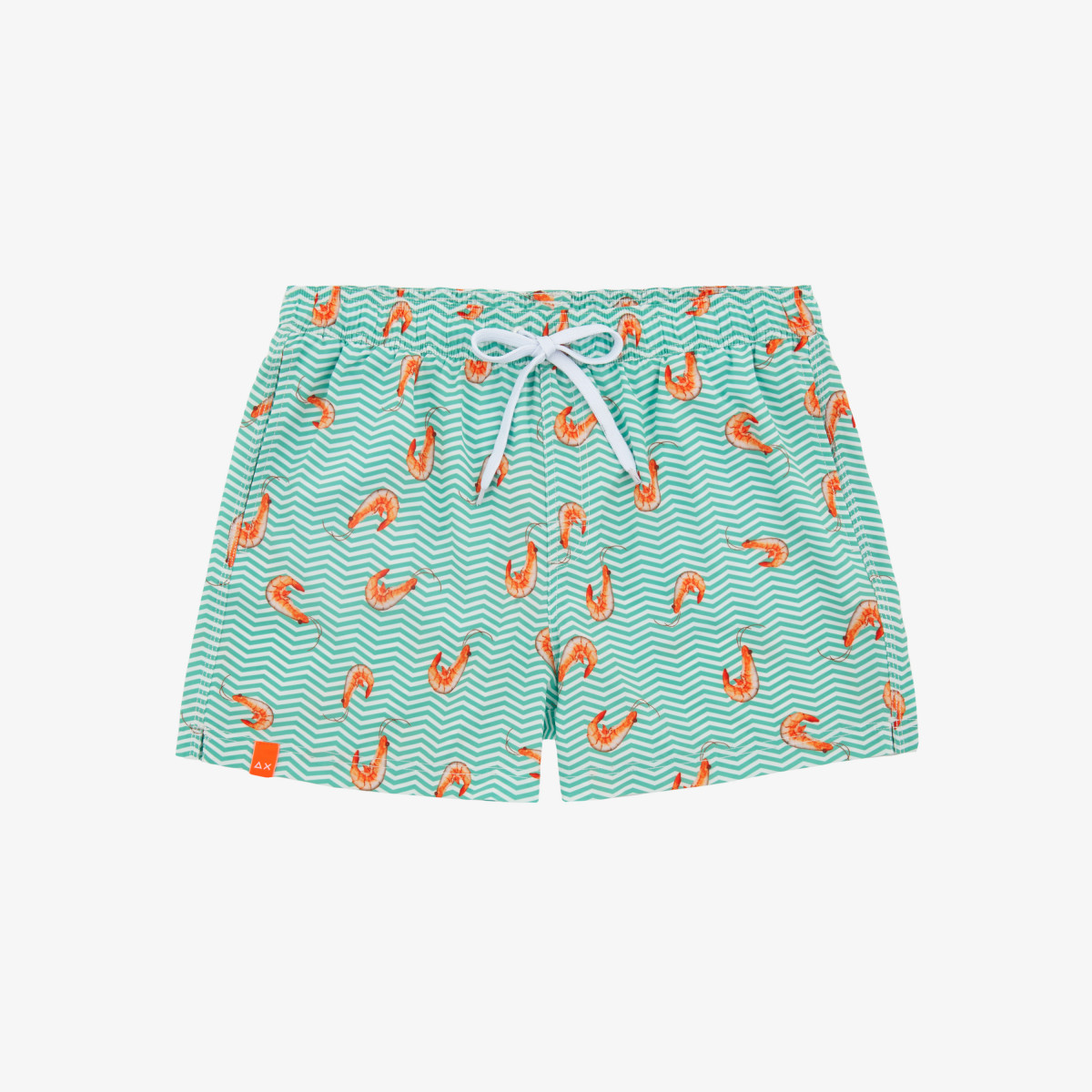 SWIM PANT SEASIDE OFF WHITE/SAGE GREEN