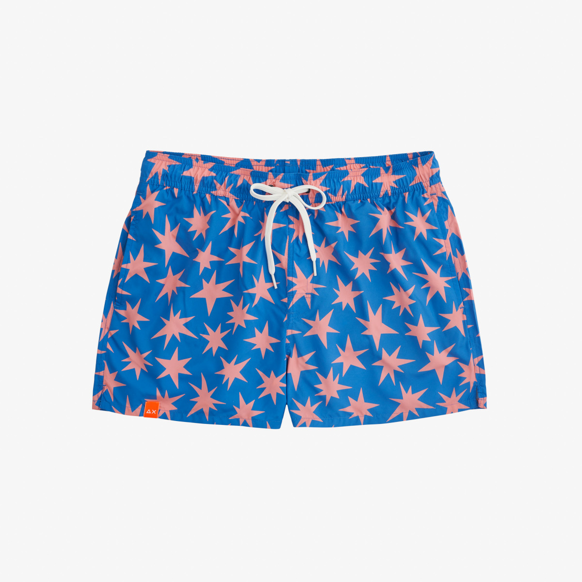 SWIM PANT ABSTRACT BLUE/PINK