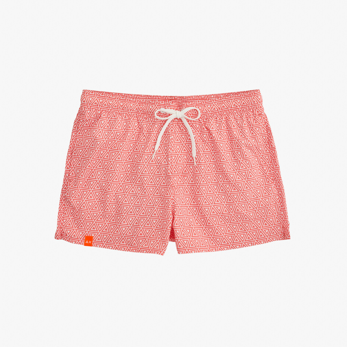 SWIM PANT FANCY MICRO PATTERN CORAL/WHITE