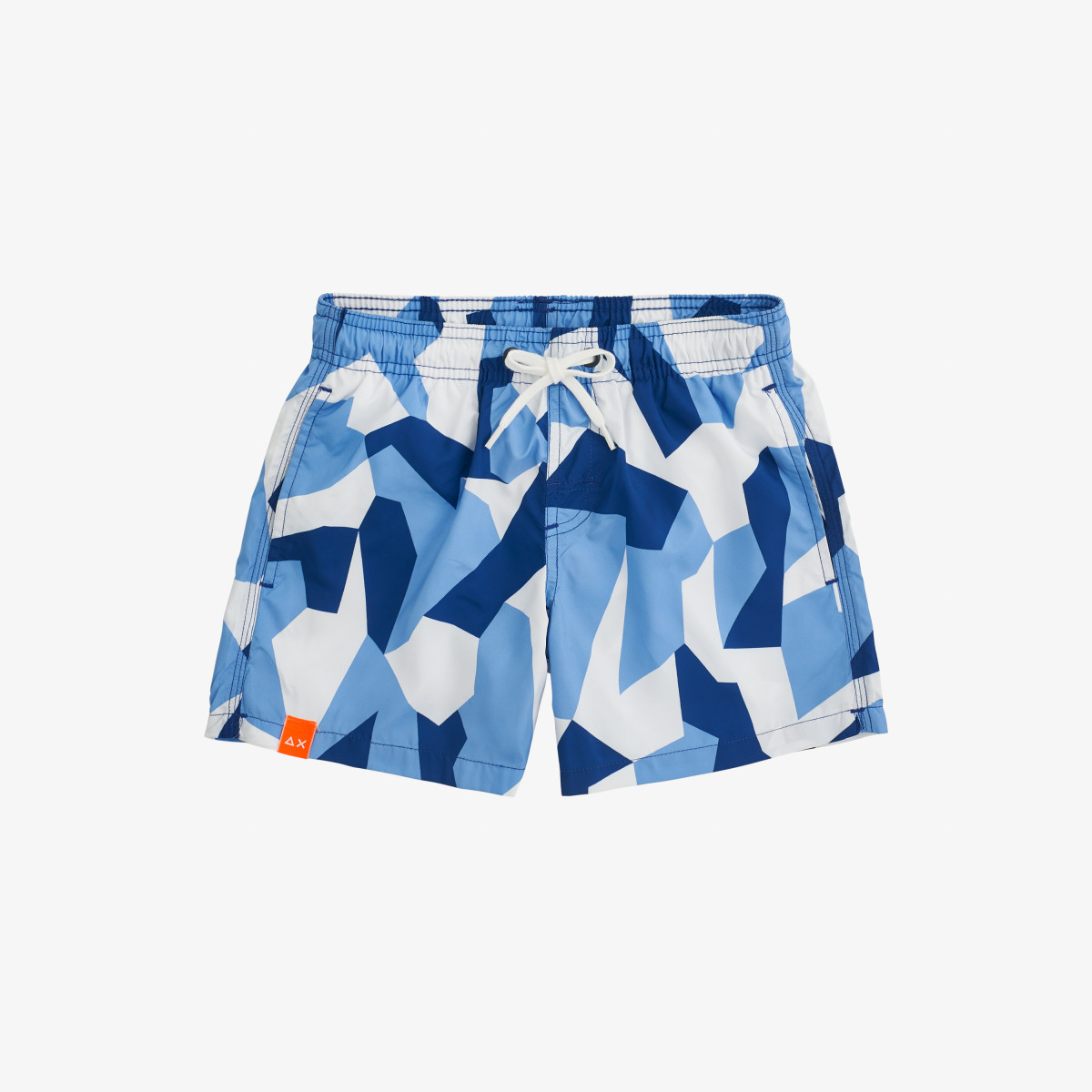 BOY'S SWIM PANT GEOMETRIC AVIO/NAVY BLUE