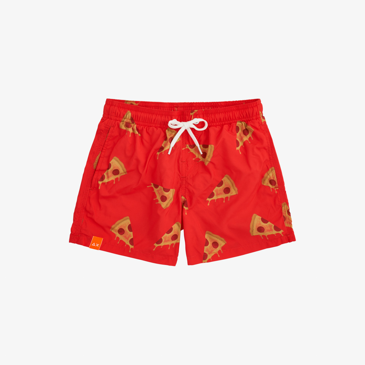 BOY'S SWIM PANT MICRO PRINT FIRE/YELLOW