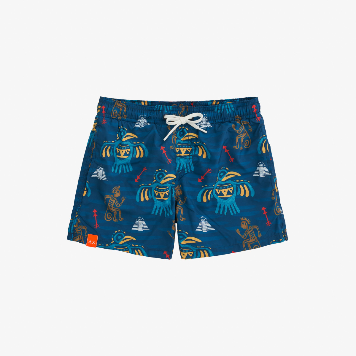 BOY'S SWIM PANT TRIBALE NAVY BLUE/YELLOW