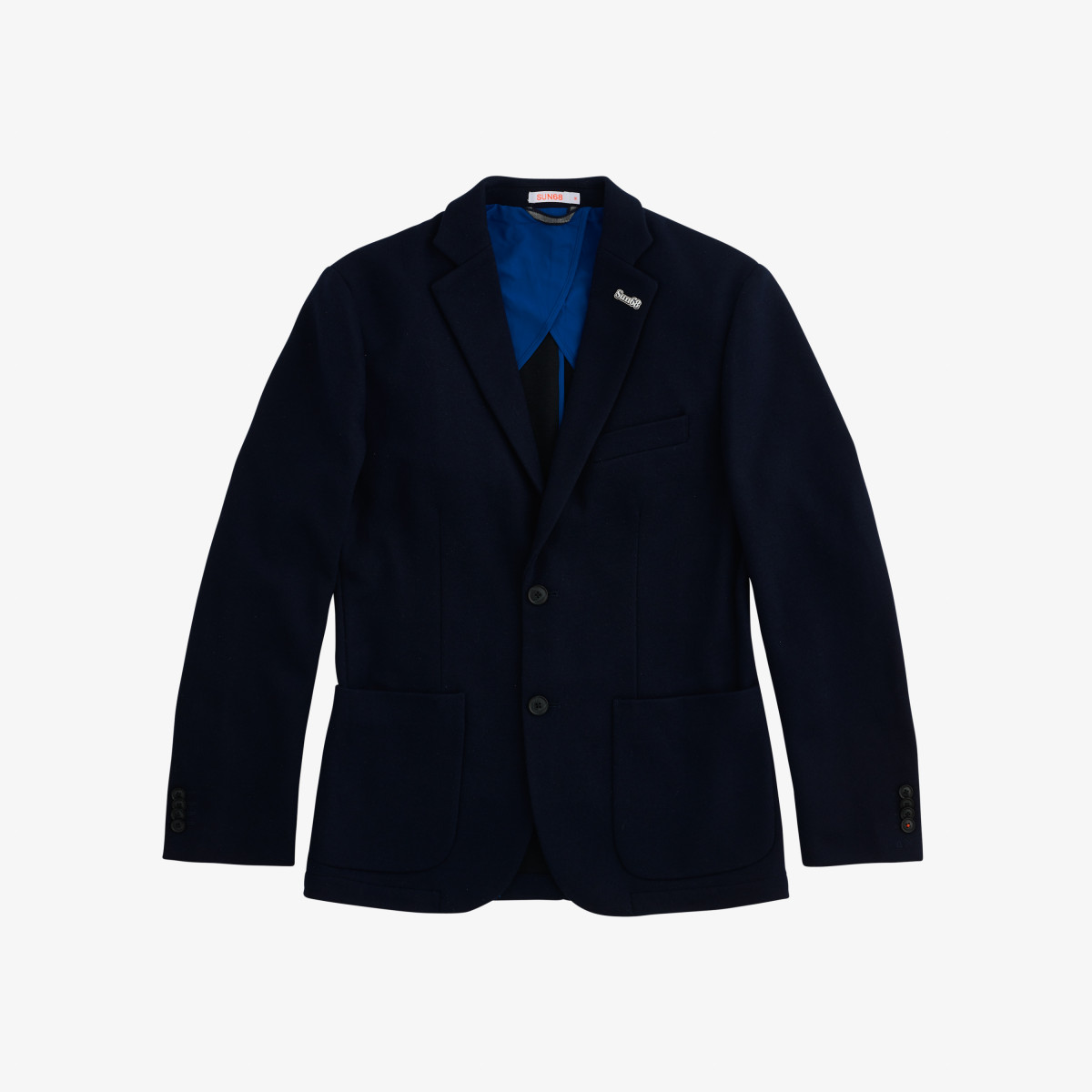 JACKET JERSEY WOOL NAVY BLUE