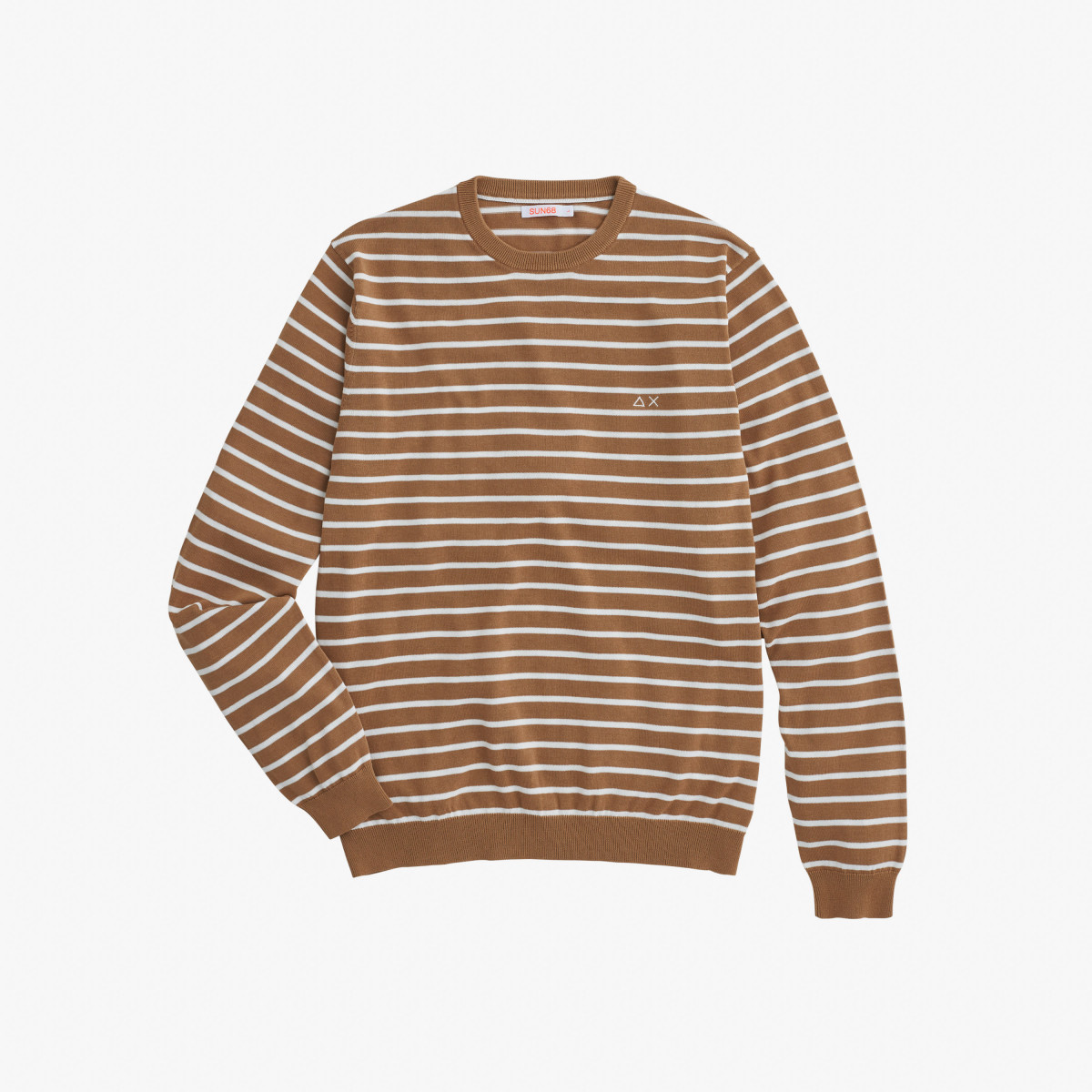 ROUND FULL STRIPES CREPE DESERT/WHITE