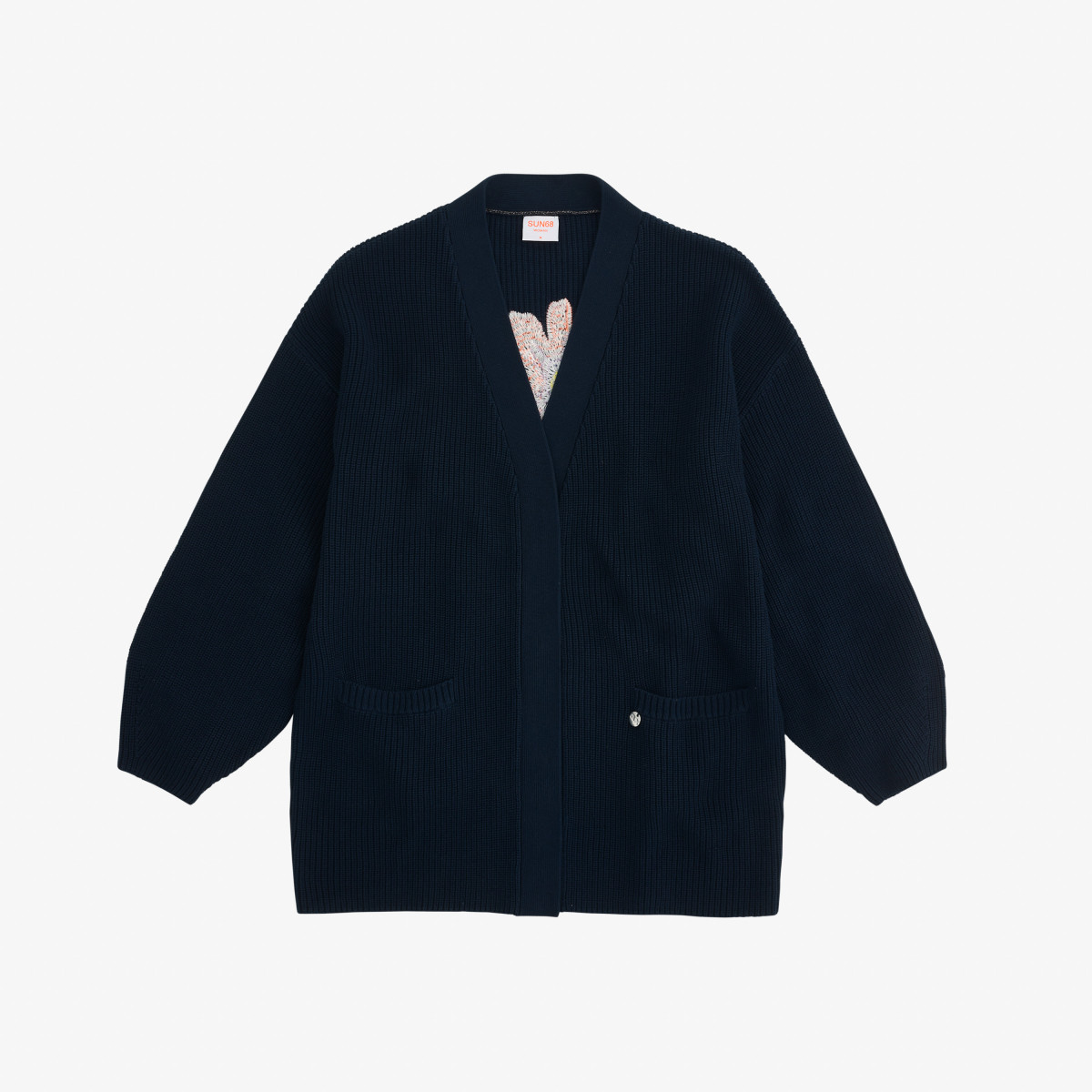 CARDIGAN TRICOT EMBRODERY NAVY BLUE