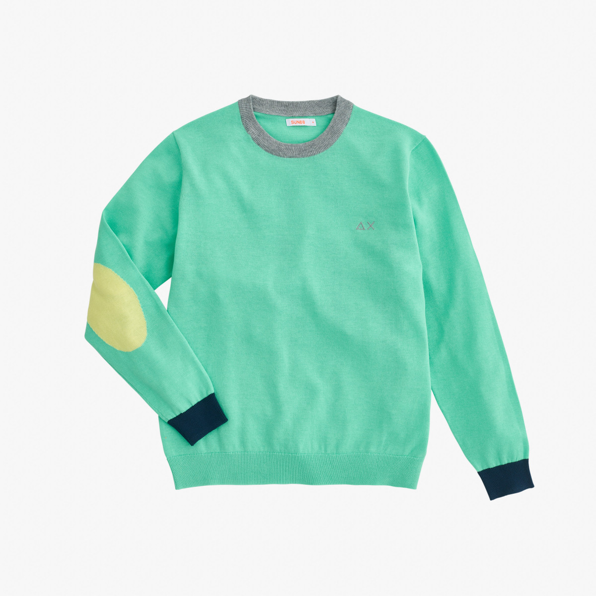 BOY'S ROUND NECK ELBOW AQUAMARINE GREEN