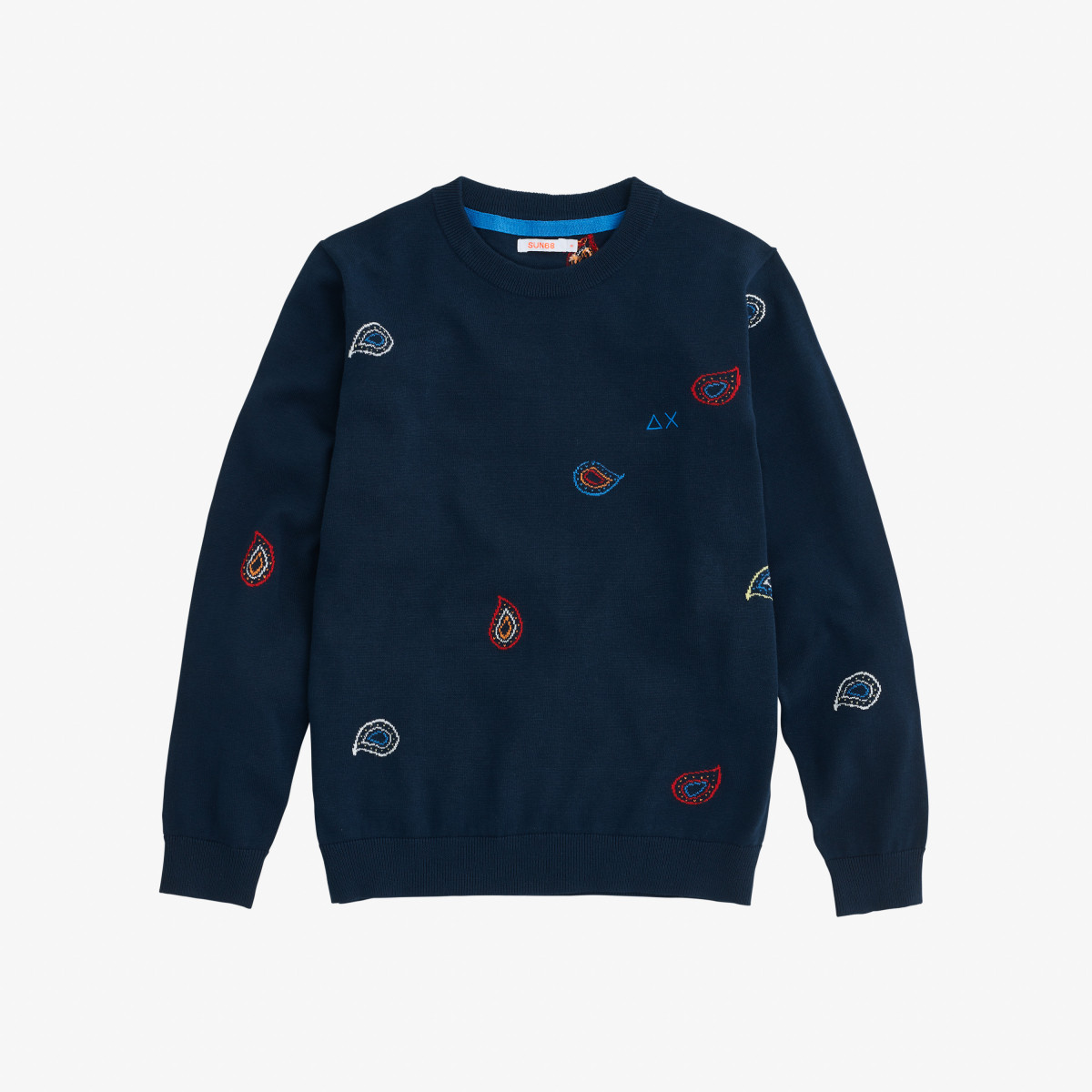 BOY'S ROUND FULL JACQUARD NAVY BLUE