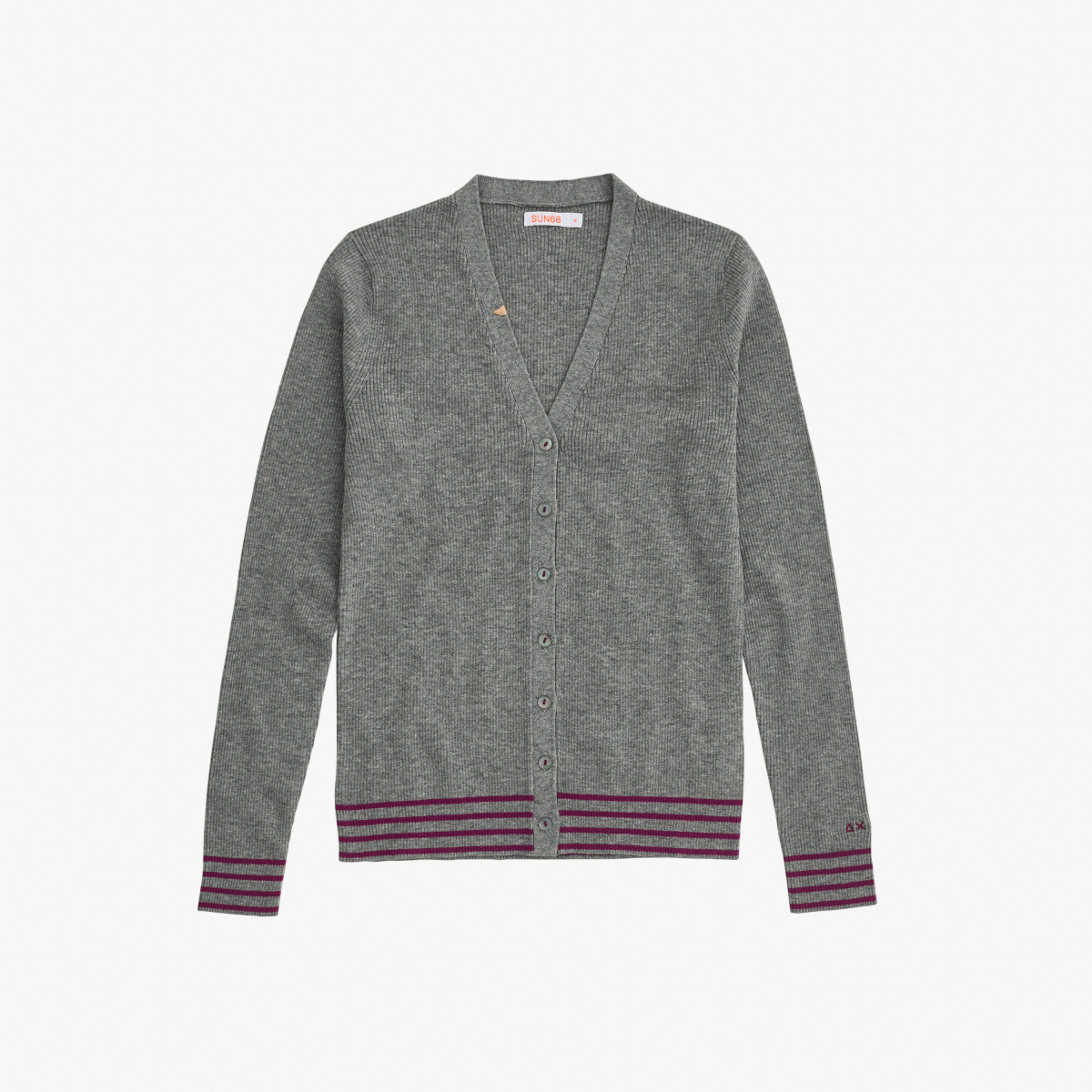 CARDIGAN V L/S MEDIUM GREY