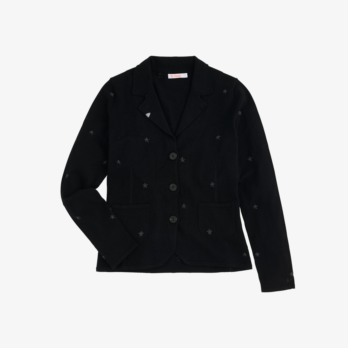 JACKET JACQUARD L/S BLACK