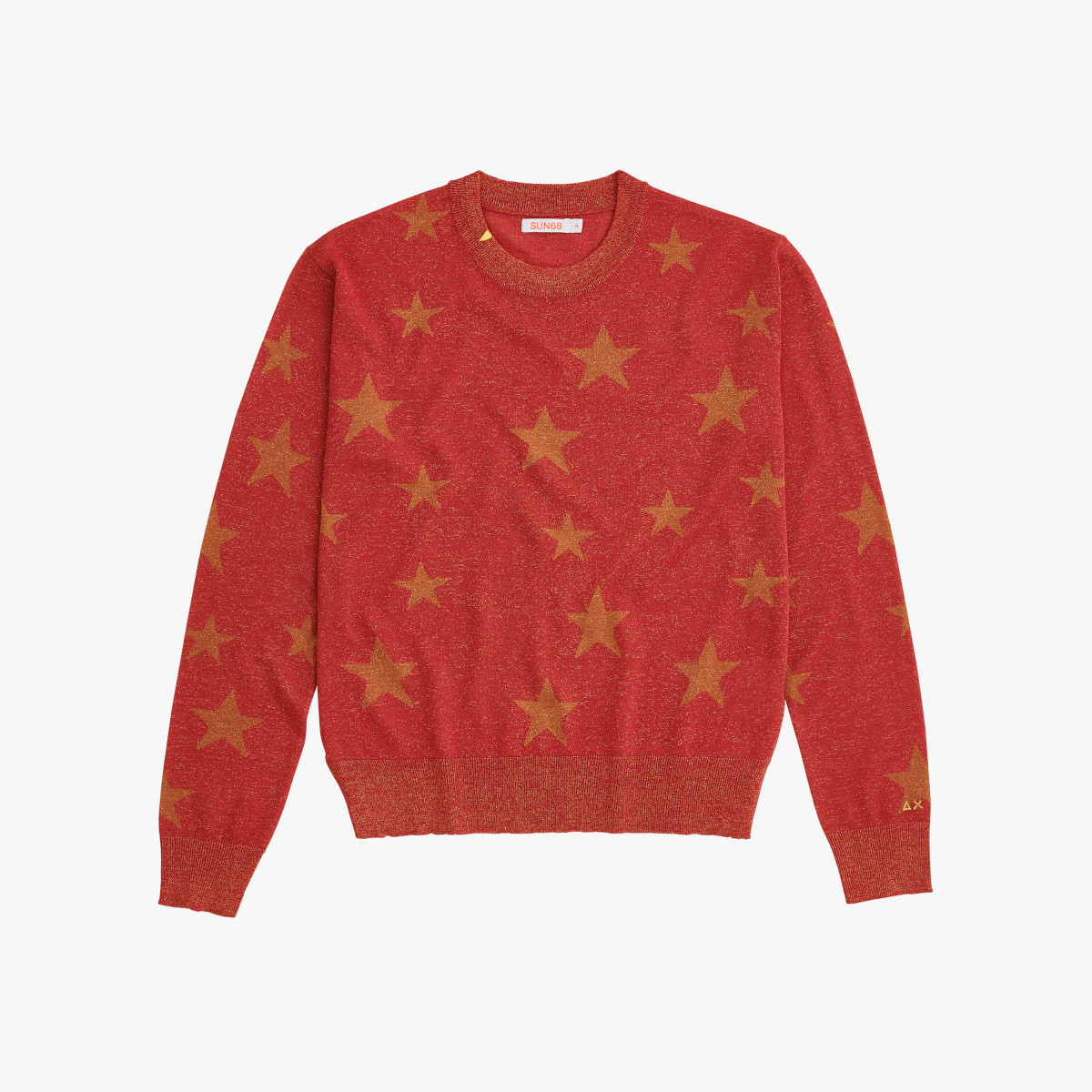 ROUND NECK JACQUARD L/S RED