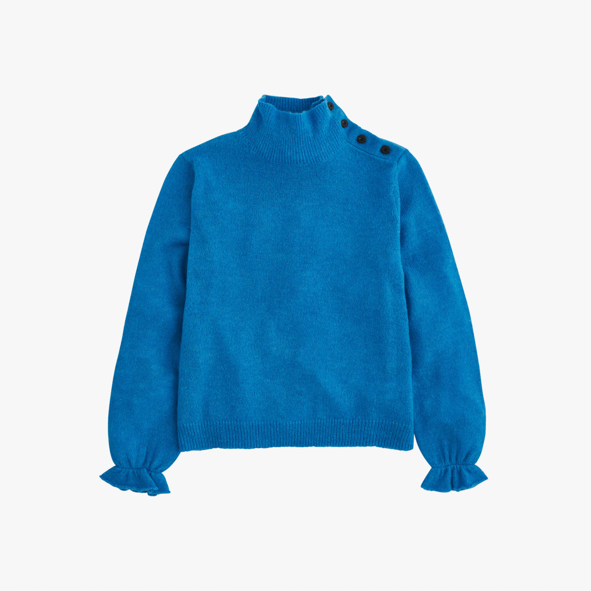 WOOL TURTLE NECK L/S TURQUOISE
