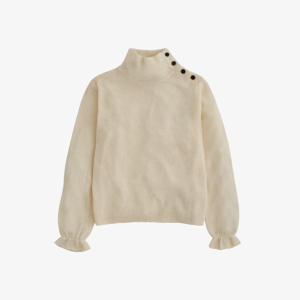 WOOL TURTLE NECK L/S BIANCO PANNA