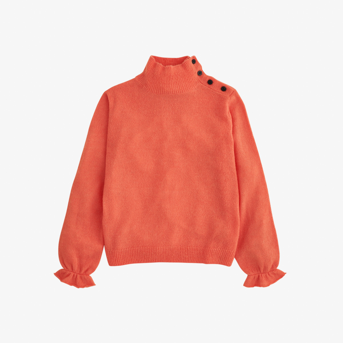 WOOL TURTLE NECK L/S CORAL