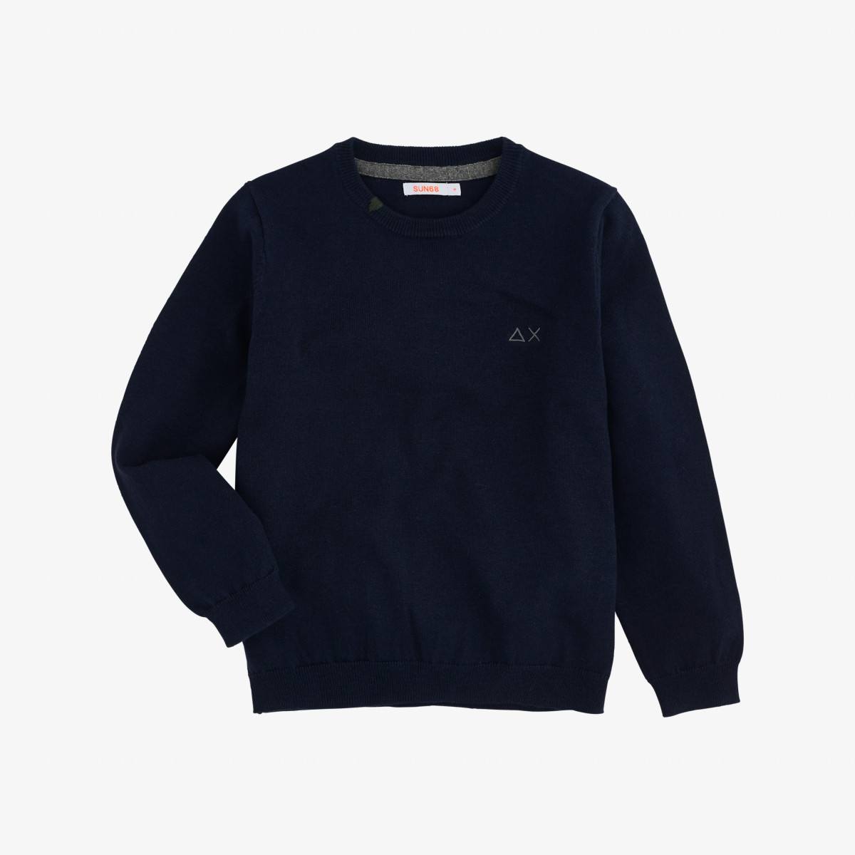 BOY'S ROUND NECK SOLID NAVY BLUE