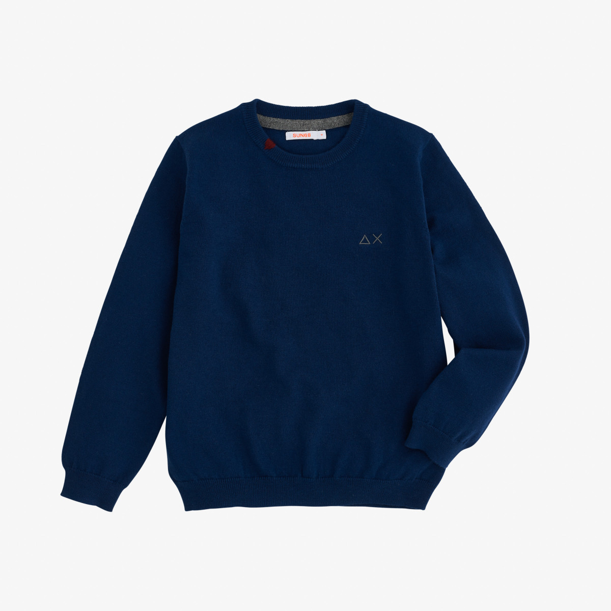 BOY'S ROUND NECK SOLID BLUE