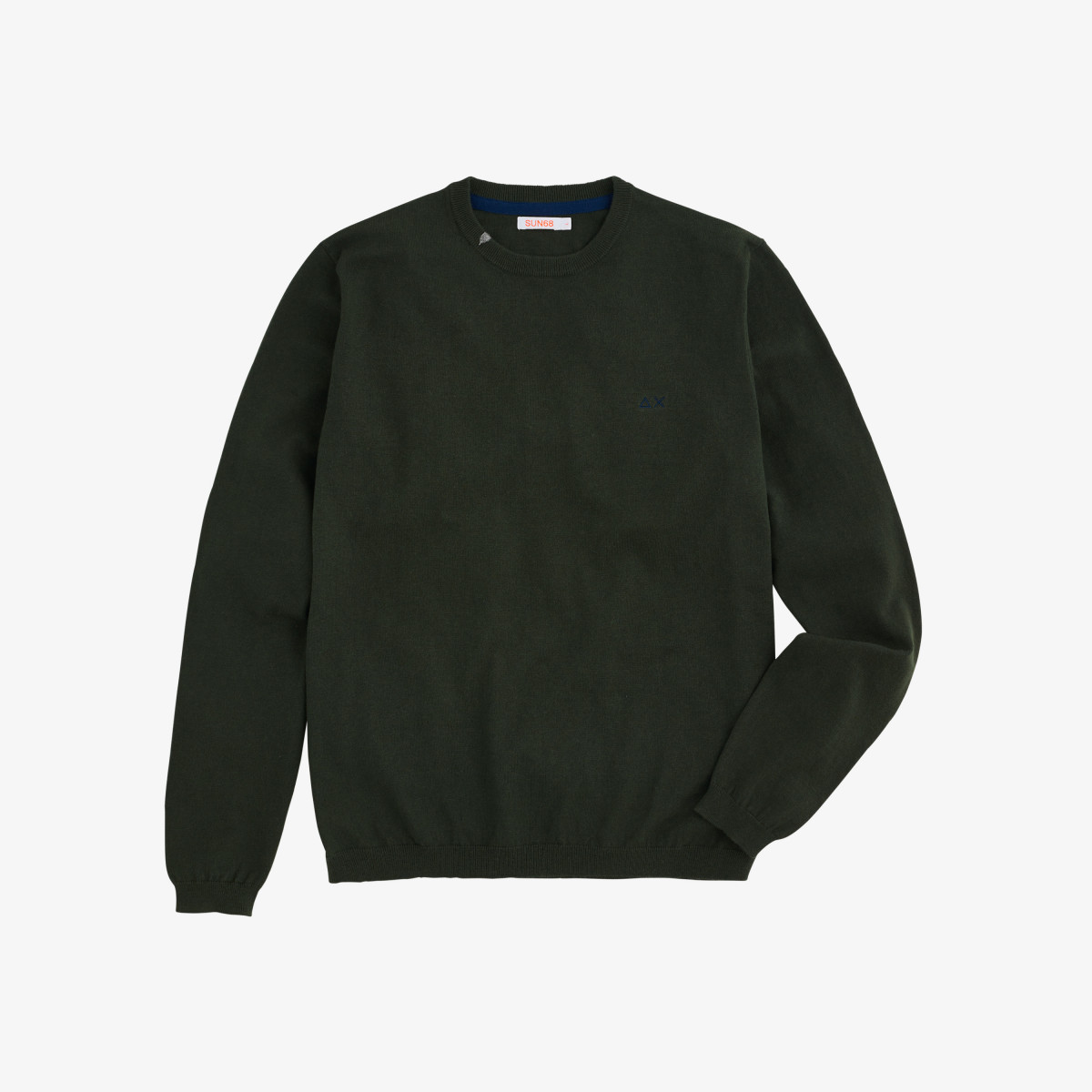 BOY'S ROUND NECK SOLID DARK GREEN