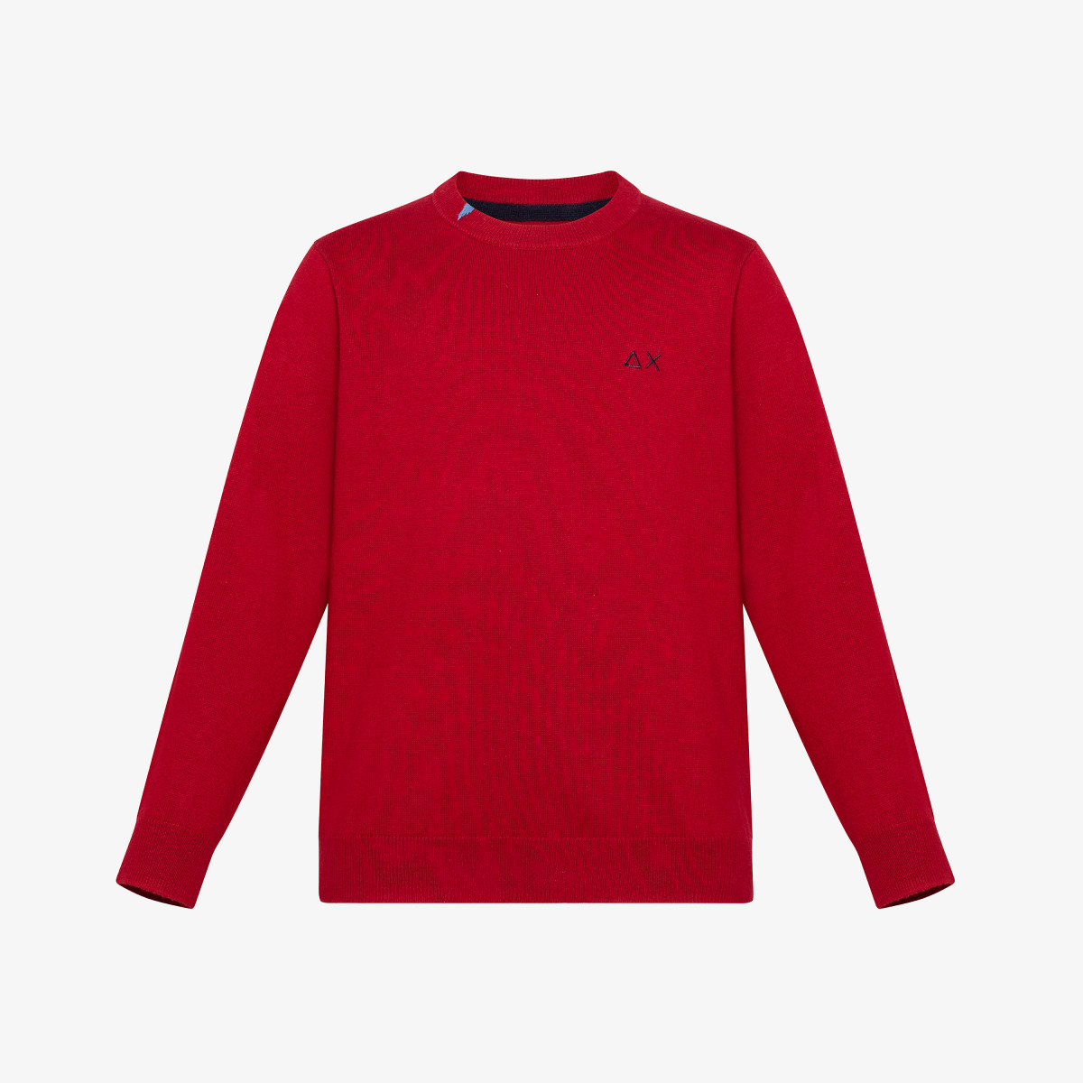 BOY'S ROUND SOLID BASIC ROSSO FUOCO