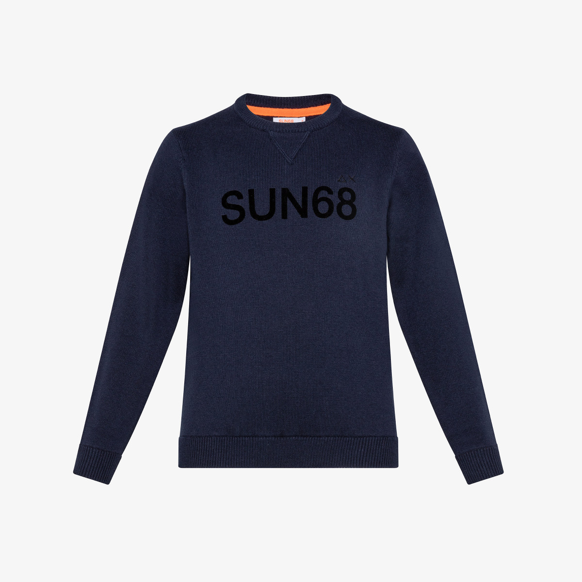 BOY'S ROUND LETTERING ON CHEST NAVY BLUE