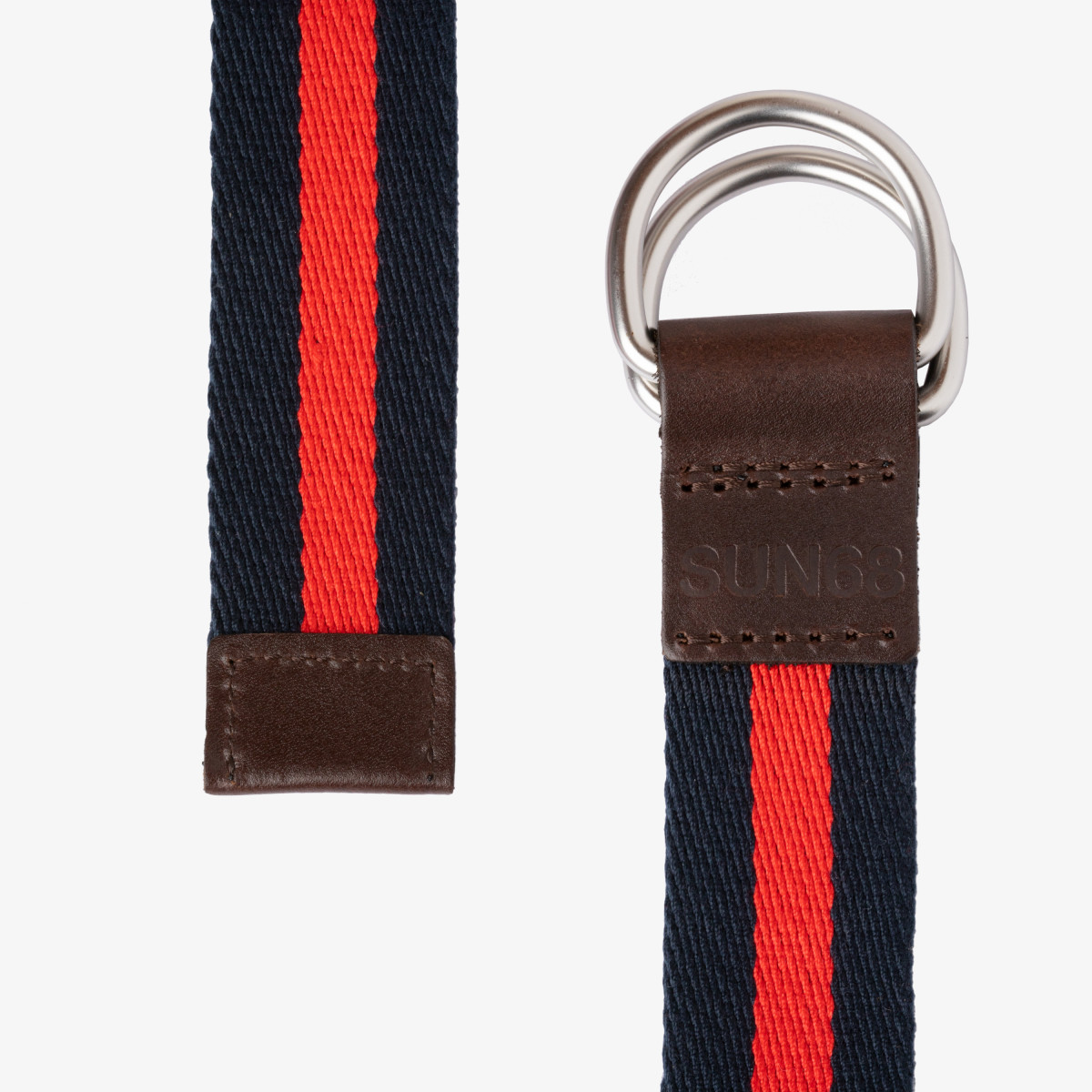 BELT NAVY BLUE / ROSSO FUOCO