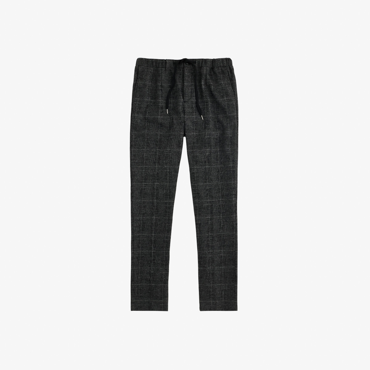 WOOL PANT COULISSE BLACK/LIGHT GREY